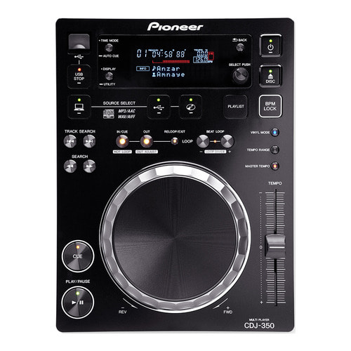 파이오니아 / Pioneer DJ / CDJ-350 / CDJ350 / rekordbox-ready digital deck (black)